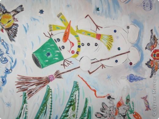 Рисунок в школу на новый год своими